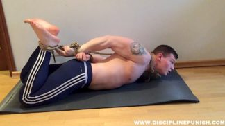 bodybuilder hogtied pahom