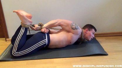 bodybuilder hogtied pahom