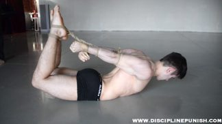 Hogtied boy video